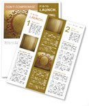 Carved pattern on a gold background Newsletter Templates