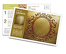 Carved pattern on a gold background Postcard Template