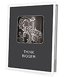 Silver metallic background with ornament Presentation Folder