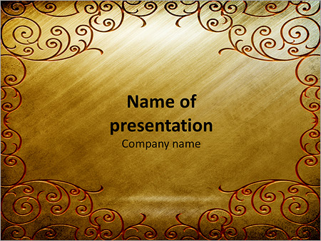Gold background with ornament powerpoint template backgrounds id gold background with ornament powerpoint templates toneelgroepblik Choice Image