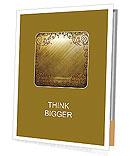 Gold background with ornament Presentation Folder