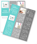 Tools for the treatment of teeth and toothbrush to keep teeth Newsletter Templates