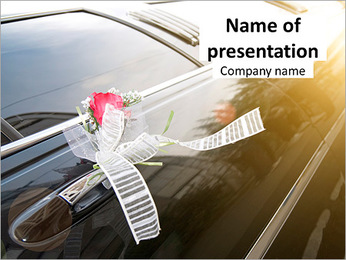 Wedding car PowerPoint Template