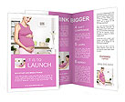 Happy pregnant woman embracing her belly Brochure Templates