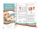 The dentist selects the shade of the teeth girl Brochure Templates