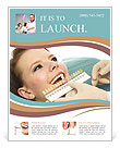 The dentist selects the shade of the teeth girl Flyer Template
