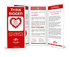 Mother's Day heart made of red roses Brochure Templates