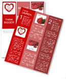 Mother's Day heart made of red roses Newsletter Template
