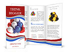 Multi-colored balloons Brochure Templates