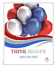 Multi-colored balloons Poster Template