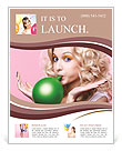 Blonde inflates ball Flyer Template
