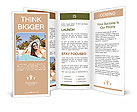 Beautiful girl sunbathes on a beach Brochure Templates