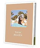 Beautiful girl sunbathes on a beach Presentation Folder
