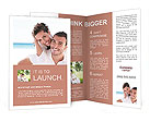 Happy couple at the resort Brochure Templates