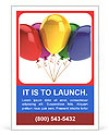 Multicolored balloons Ad Templates