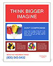 Multicolored balloons Poster Template