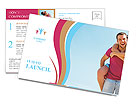 Happy couple vacationing Postcard Template