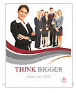 Business woman and her team leader Poster Template