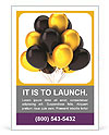 Gold and black balloons Ad Templates
