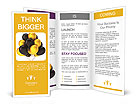 Gold and black balloons Brochure Templates
