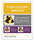 Gold and black balloons Poster Template