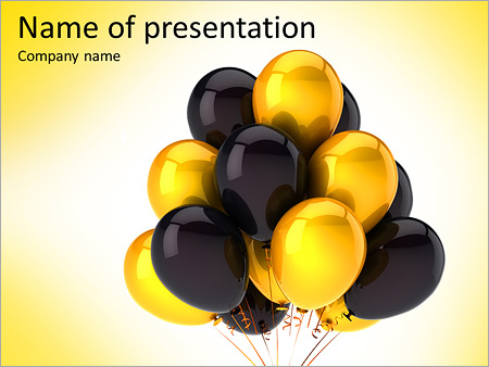 Gold and black balloons powerpoint template backgrounds id gold and black balloons powerpoint template toneelgroepblik Images
