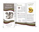Metallic 3d word Brochure Templates
