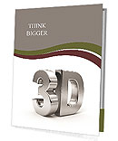 Metallic 3d word Presentation Folder