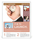 A hand is holding a stopwatch Flyer Templates