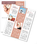 A hand is holding a stopwatch Newsletter Templates