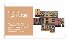 Happy Mother Day writing on the wall Business Card Template
