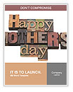 Happy Mother Day writing on the wall Word Templates