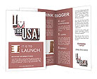"The phrase ""I Love the USA!"" Brochure Templates"