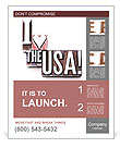 "The phrase ""I Love the USA!"" Poster Template"