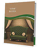 Beautiful sofa as the royal throne Presentation Folder