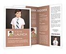 Schoolboy smiling Brochure Templates