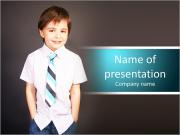 Schoolboy smiling PowerPoint Templates