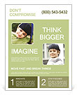 Smiling little boy Flyer Template