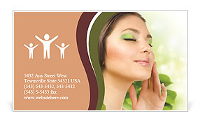 The girl is in harmony with nature Business Card Template