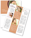 The girl is in harmony with nature Newsletter Templates