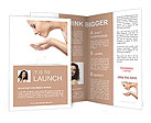 The girl washes with clean water Brochure Templates