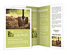 Ground and shovel Brochure Template