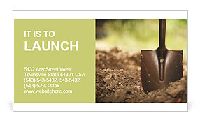 Ground and shovel Business Card Templates