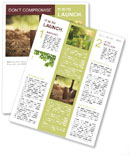Ground and shovel Newsletter Templates