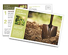 Ground and shovel Postcard Template