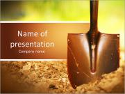 Ground and shovel PowerPoint Templates