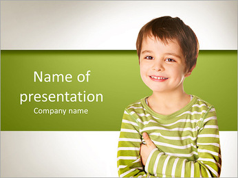 Smiling little boy PowerPoint Template