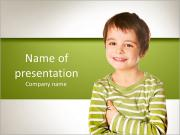 Smiling little boy PowerPoint Templates