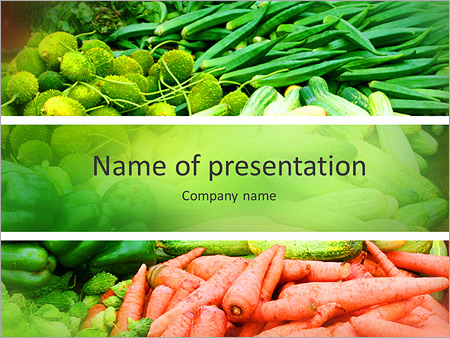 Fresh vegetables powerpoint template backgrounds id 0000010882 fresh vegetables powerpoint templates toneelgroepblik Choice Image