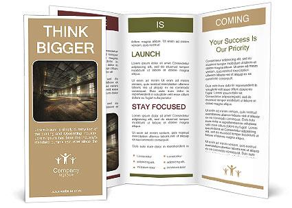 Gym Brochure Templates | Abandoned Gym Brochure Template Design Id 0000010883